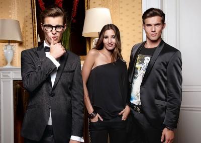 Klasikiniai, elegantiški, jaunatviški, juodi smokingai