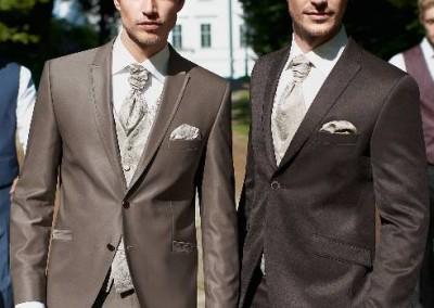 Dviejų sagų, vestuvinis kostiumas